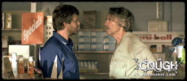 Christopher Sommers (Left) and Robert Coleby (Right) star in Cough